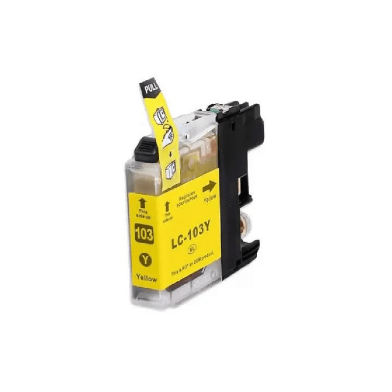 CARTUCHO DE TINTA COMPATIVEL BROTHER LC103 / 105 / 107 / 109 YELLOW