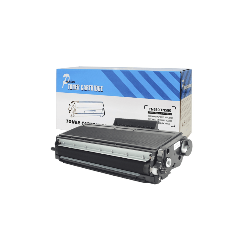 CARTUCHO DE TONER COMPATIVEL BROTHER TN580 / TN650 PREMIUM