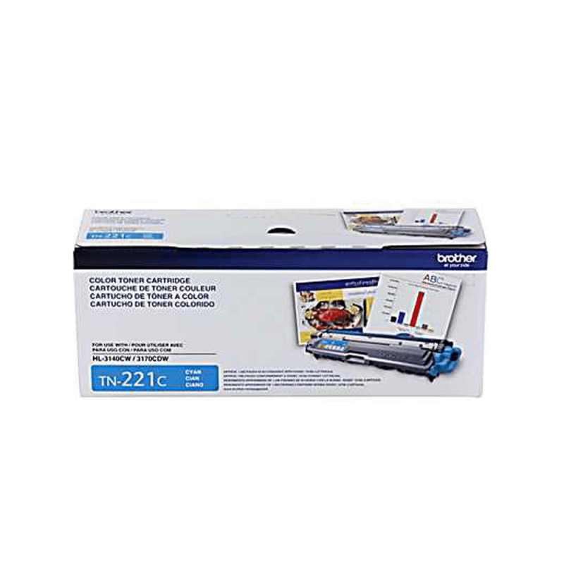 TONER BROTHER TN 221C BR  CIANO / MFC-9330CDW/DCP-9090CDN/HL-3140W REND.1.400 PG. Cest: 2101800. NS: 00375022