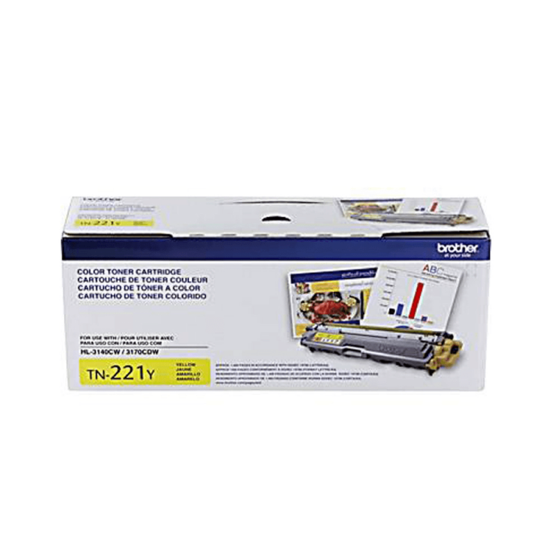 TONER BROTHER TN 221Y BR  P/ YELLOW / MFC-9330CDW/DCP-9090CDN/HL-3140W REND.1.40. Cest: 2101800. NS: 00367539